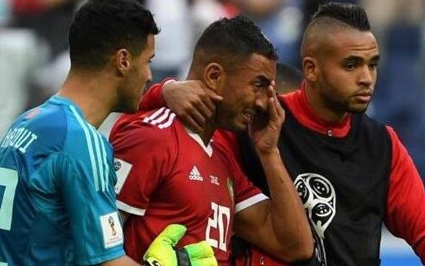 2018世界杯首个乌龙球 摩洛哥球员鲍哈杜兹头