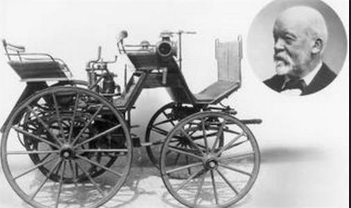 世界上第一辆摩托车 1883年德国的技术员戴姆勒发明