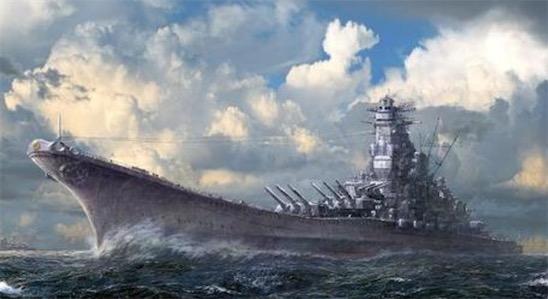 """世界最大的战列舰 """"大和""""号舰身长263米"""