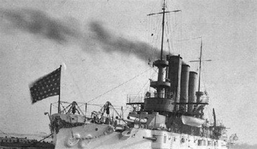 """世界上最早采用涡轮引擎的装甲舰 1897年英国的""""无畏""""号"""