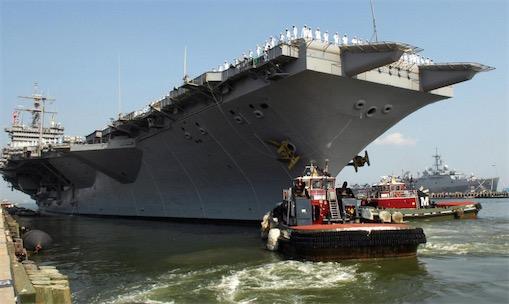"""世界第一艘核动力航空母舰 二战后美国建造的""""企业""""号"""