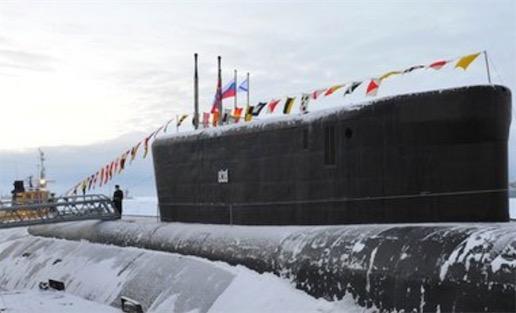 """世界上最大的潜艇 俄罗斯的""""Akula""""核潜艇排水量为26500吨"""