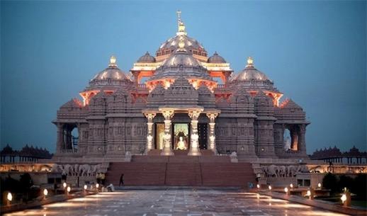 世界上最大的印度教寺庙 阿克萨达姆神庙占地86342平方英尺