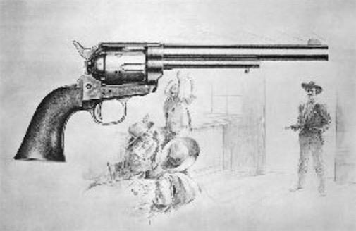 世界上最早的左轮手枪 1835年美国人柯尔特发明了左轮手枪