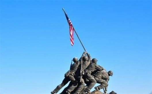 美国最惨烈的一次战役 硫磺岛战役永远祭奠在华盛顿
