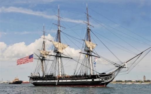 """世界上最古老的现役军舰 美国的风帆""""宪法""""号在1797年下水"""