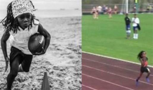 世界上跑的最快的男孩 鲁道夫100米仅用时13.48秒
