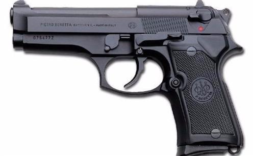 世界最厉害的小手枪 伯莱塔92F型手枪空枪重0.96千克