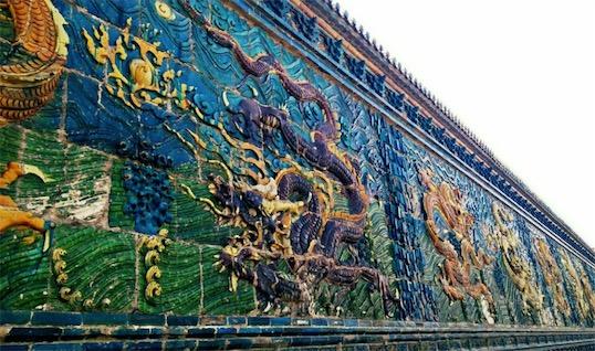 中国最早最大的九龙壁 大同九龙壁壁高8米