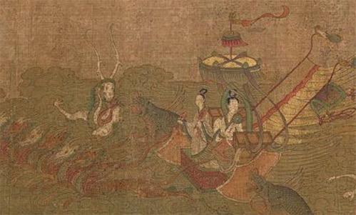 中国最早的文学作品插图 《洛神赋图》是东晋顾恺之的画作