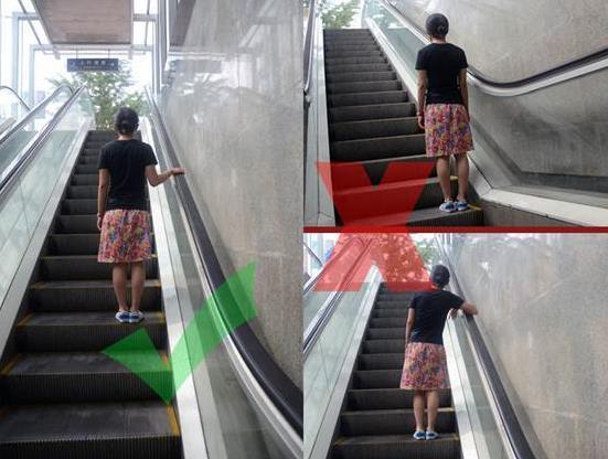 地铁中乘坐扶梯的安全注意事项