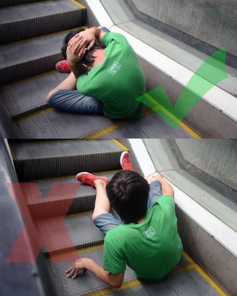 乘电梯事故发生,自我保护技巧