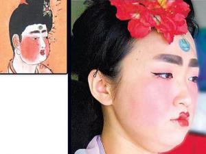 台湾女孩模仿唐朝仕女妆 网友赞其在唐朝是宠妃