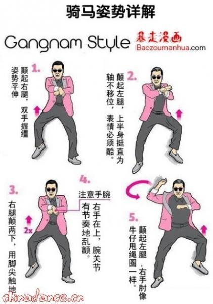 江南style舞蹈教学视频:鸟叔江南style骑马舞分解