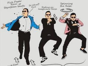 江南style舞蹈教学视频:鸟叔江南Style骑马舞分解教学图解