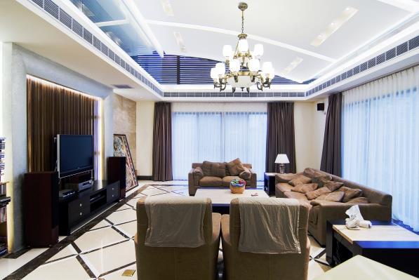 简约风格别墅客厅吊顶装修效果图