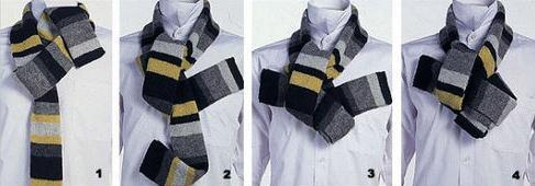 男士围巾的系法图解