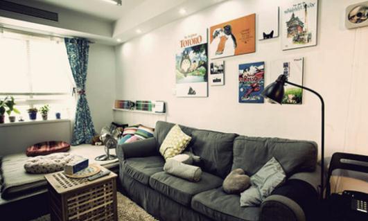 客厅背景墙的设计方案:魅力灯光