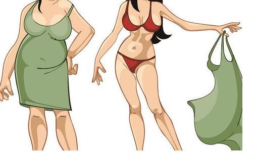 苹果型身材和梨型身材最该减肥 苹果型身材的人通常胳膊腿细肚子大,但是腰腹浑圆,就像苹果一样,这也是减肥最容易成功的体型。苹果型身材又称腹部型肥胖,男性所占比例较多。这类人的脂肪沉积在腹部的皮下及腹腔内。如果男性腰围大于90厘米即2尺7,女性腰围大于80厘米即2尺4,就属于苹果型肥胖了。 苹果型肥胖由于脂肪大多聚集在腹部,对胸腹腔器官都有挤压作用,因此对身体危害比梨型肥胖更严重。有报道称,苹果型身材的女性不仅容易死于心脏病发作和脑中风,还更容易患痴呆。研究人员发现,腰围大于臀围的中年女性到老年患痴呆症的几