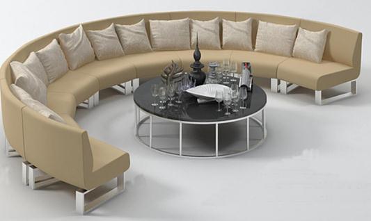 半圆形卡座沙发的特点是什么?