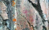大兴安岭密林深处史前岩画 旧石器时代人类遗迹