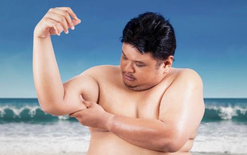 胖男人运动健身减肥